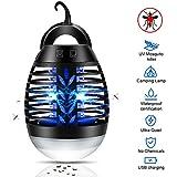 Mosquito Killer Bug Zapper Lampada da Campeggio UV Lanterna Fly Zapper Tenda Portatile Impermeabile Light Killer per Insetti Gancio Ricaricabile USB Ricaricabile per Interni ed Esterni