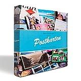 Leuchtturm 342621 Sammel-Album POSTKARTEN für 600 Postkarten, Postkarten-Sammel-Album mit 50 festeingebundenen Hüllen