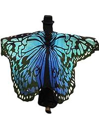 Canela diseño de pavo real alas hada ninfa Pixie gasa chal disfraz, 197x 125cm