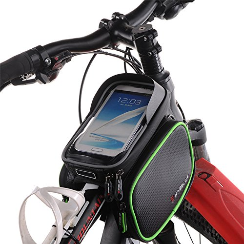 Fastar 15,7 cm Wasserdicht Touch Screen Bike Bag Front Rahmen Top Fahrrad Handy Tasche MTB Road Mountain Fahrrad Tasche Fahrrad Satteltasche Schwarz