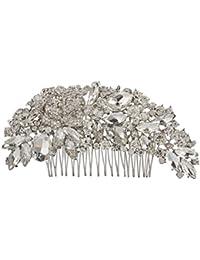 Jane Stone Peigne a Cheveux Fantaisie Strass Brillant Paver Elegant Femme Mariage Accessoires Decor