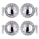 8er Design Bling Kristall Diamant Möbelknöpfe Möbelgriffe Möbelknauf MöbelKnopf Silbere Fassung