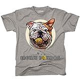 Siviwonder Unisex T-Shirt ENGLISH BULLDOG BALL LUSTIG Englische Bulldogge Hunde sports grey XXL