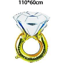Sungpunet 110 * 60 cm Anillo de Diamante Globo Boda Fiesta de Compromiso Globo de Fiesta