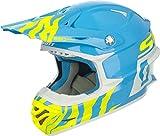 Scott 350 Pro Race MX Enduro Motorrad / Bike Helm blau/weiß/gelb 2017: Größe: L (59-60cm)