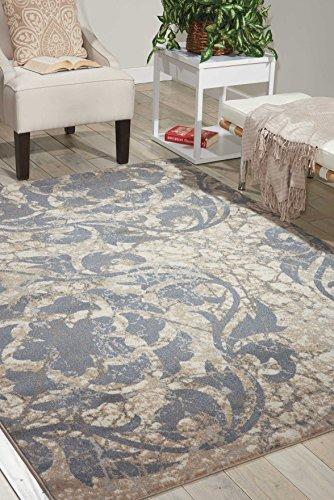 Nourison Teppich Mondrian 99446343734-Elfenbeinfarben Blue Power bevorstand Teppich, elfenbein blau, 3ft 25,4cm x 5ft 25,4cm - Nourison Teppich Blau