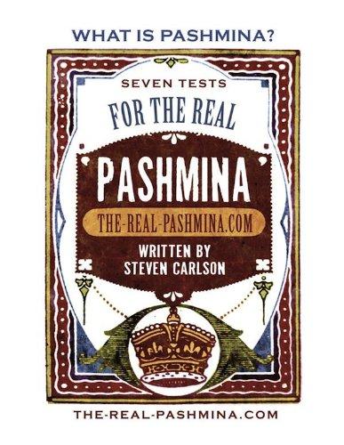 What is Pashmina? Seven Tests for the Real Pashmina (English - Scott Kostüm