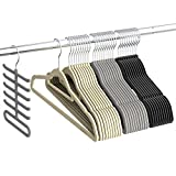 Kleiderbügel, Sable Anzugbügel Jackenbügel 30 Stück,0,6cm dick, Antirutsch, um 360° drehbarer Haken Multifunktionsbügel für Kleider/Jacken/Hosen/Krawatte, 3 Farben, Krawattenbügel inklusive