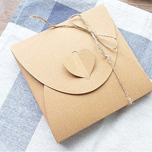 Kraftpapier Briefumschläge | 50 Stück - 4