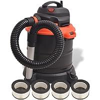 Zora Walter Aspirador de Cenizas Aspiradora Robot 1200 W 20 L, con 4 filtros Negro