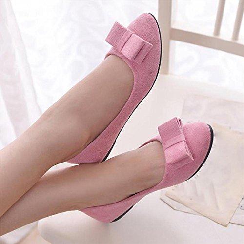 Vovotrade Chaussures Ballet pour Femme Chaussures de Travail pour Bateau Rose