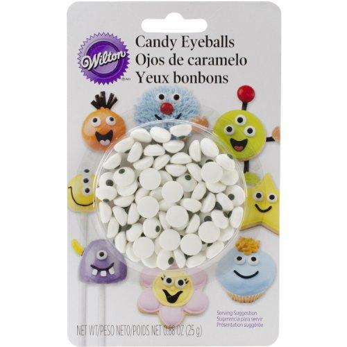 Wilton Candy Eyeballs Zuckeraugen - 56 Stk, 7mm - 25 (Halloween Cupcakes Dekorationen)