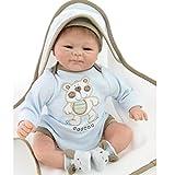 NPK Lebensecht Reborn Baby Dolls 18' Weiche Silikon Vinylmagnetische Schnuller Wiedergeborene Baby Puppen 45cm Lebensechte Neugeborene Baby Spielzeug Geschenk