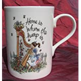 Home is Where the Harp Is - Bone China Mug by Affairs of the Harp