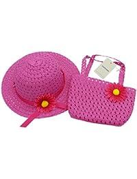 YOPINDO Cappello da sole in paglia di paglia Cappello da spiaggia borsetta  Borsa da cocktail cappello c7dbf38d4310