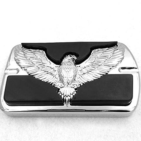 Verchromtem Harley Davidson Touring Softail Bremspedal großes Pad H-D Willie G. Eagle Hawk Emblem