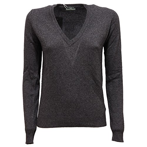 2738R maglione donna FRED PERRY grigio melange lana sweater wool woman [S]