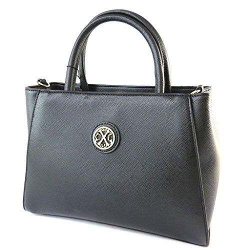 Bag designer 'Christian Lacroix'nero (2 scomparti)- 29x20x11 cm.