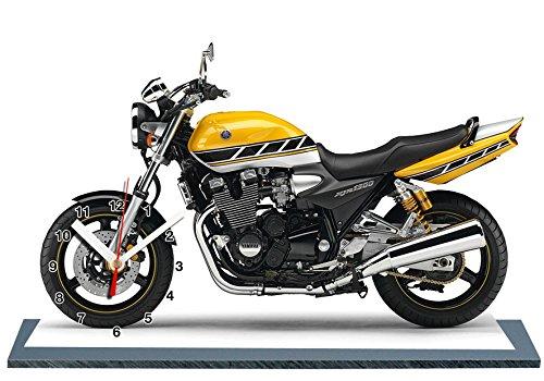 MOTO YAMAHA 1300 XJR ROBERTS EN HORLOGE MINIATURE SUR SOCLE 13