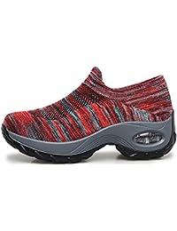 tqgold® Sneakers Zeppa Interna Donna Scarpe da Ginnastica Sportive Fitness  Basse Scarpe 4.5CM ce3563e6fe3