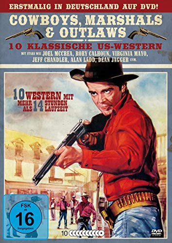 Cowboys - Marshals & Outlaws - Klassische US - Western Box (10 Filme auf 10 DVDs) (Western Dvd, Auf Filme)