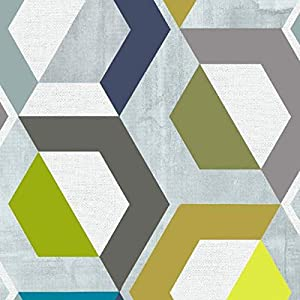 Klebefolie Möbelfolie Honey Comb bunt geometrisch Dekorfolie 45 cm x 200 cm Selbstklebefolie