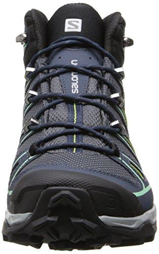 Salomon X Ultra Mid 2 Gtx, Chaussures de Randonnée Femme Gris (Grey Denim/deep Blue/lucite Green)