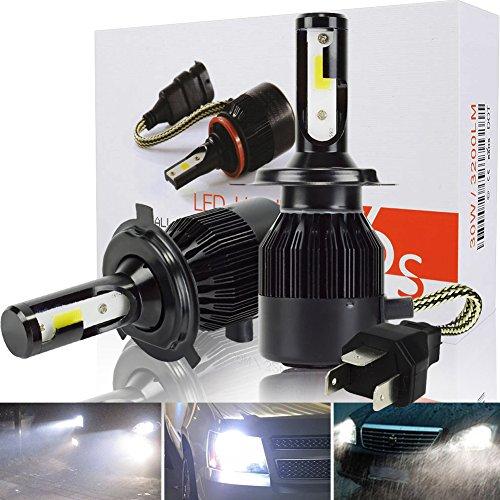 Safego Lampadine H4 LED 8000LM, Fari Abbaglianti o Anabbaglianti per Auto, Kit Lampada Sostituzione per Alogena Lampade e Xenon Luci, 12V DC, 6000K Bianco