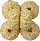 #8: M.G 100% Acrylic Wool Mustard (Pack of 6) Baby Soft Wool Ball Hand knitting wool/Art Craft soft fingering crochet hook yarn, needle knitting yarn thread dyed …