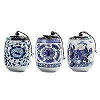 Black Temptation Set Of 3 Pcs Beautiful Chinese Style Ornament Ceramics Tea Caddy