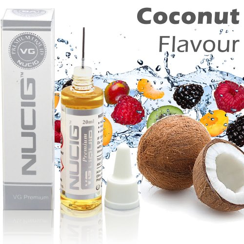 COCONUT Flavour Large 20ml Eliquid ★ Over 30 Great Flavours ★ Exclusive Integrated Dispensing Point ★ VG Premium Base | for ecigarette | electric cigarette | electronic cigarette | clearomiser | clearomizer | eshisha | ehookah | e cigarette | Nicotine Free | Tobacco Free