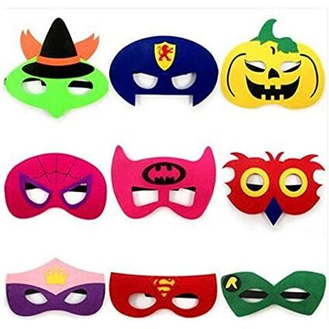 9 Pezzi di Halloween dei Bambini Maschera