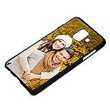 PixiPrints Personalisierte Premium Foto-Handyhülle für Samsung Galaxy-Serie Selbst Gestalten mit Foto Bedrucken, Hülle:TPU-Silikon/Schwarz Matt, Handy:Samsung Galaxy A6 (2018)