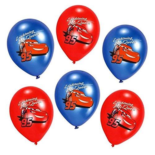les colis noirs lcn Sachet de 6 Ballon Disney Cars - Déco Fête Anniversaire - 987