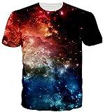 Uideazone Junioren-Nebel Sternhaufen Shirt der Männer Graphic T-Shirt Cool