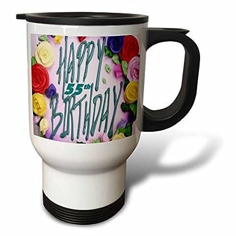 statuear Happy Birthday 55E 14-Ounce Tasse de voyage en acier inoxydable
