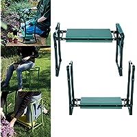 Beauty Talk Jardín Rodillera Bancos plegable Rodillera Banco de 2en 1sentarse silla de rodilla para jardín casa de trabajo con bolsa de herramientas, Gelb 1 Werkzeugtasche
