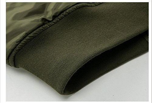 WS668 Frühlings Herbst Herren Standplatz Kragen Baseball Mäntel Freizeit Mode Reißverschluss Patch Jacke Mens Coats Grün#2