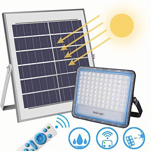 Solar Flutlicht 100w Energie Sparen SolarlampenWeiß 176 leds Weiß 6000K IP67 für Zaun, Schuppen, Garten usw