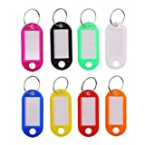 CCINEE 50 Pieces Rainbow Color Plastic Key lables Tags,Key ID Tags,Luggage ID Label