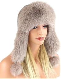 donna volpe cappello di Pelliccia Cappello Pelliccia berretto aviatore  BERRETTO AVIATORE BOMBARDIERE Cappello Cappello invernale FOX 848f89f480c8