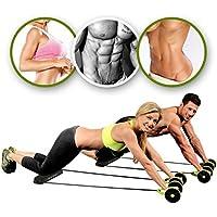 Machine double-roues Beautyrain avec élastiques pour abdominaux, tractions, corde ventre minceur gymnastique, exercices d'entraînement, 1pc