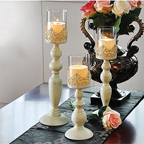 Retro Eisen kerzenständer,Romantisch Hochzeit Ornament Abendessen bei Kerzenlicht Kerzenhalter...