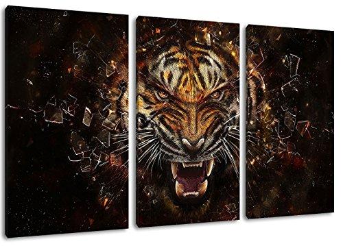 thor il mondo oscuro della pittura su tela, (Dimensione: 120x80 cm) Immagini enormi completamente Pagina con la barella, incorniciatura sulla foto muro con telaio