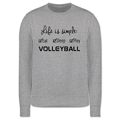 Volleyball - Life is simple Volleyball - Herren Premium Pullover Grau Meliert