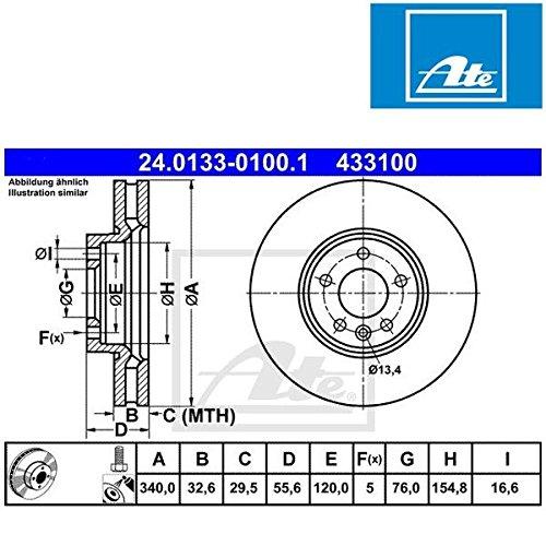 ATE 24013301001 Disque de frein