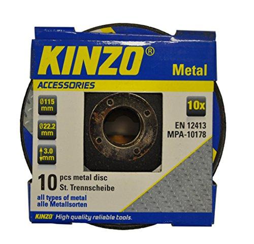 kinzo-71768-disque-en-metal-115-mm-10-pieces