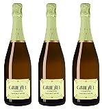 Griesel Sekt Pinot Prestige 2014 Brut nature (naturherb) (3 x 0.75 l)