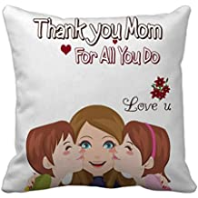 Tied Ribbons Thank You Mom Gift Cushion Cover with Filler