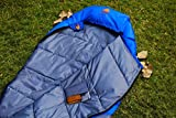 #6: Bonfire Trekking Hiking And Camping Sleeping Bag Royal Blue With Pocket for Men and Women Travelling Gear